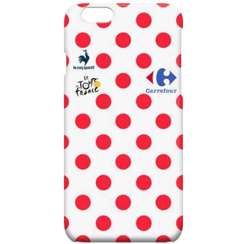 Tour de France(ツールドフランス)iPhoneカバー(Cデザイン / ホワイト / レッドポルカドット)