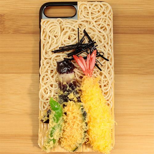 Pursuit Kids(パーシュートキッズ)食品サンプルiPhoneカバー (Cデザイン / 天ざるそば)