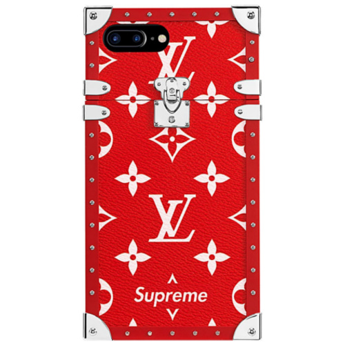 LOUIS VUITTON(ルイヴィトン)×Supreme(シュプリーム)EYE TRUNK・iPhoneカバー(レッド)