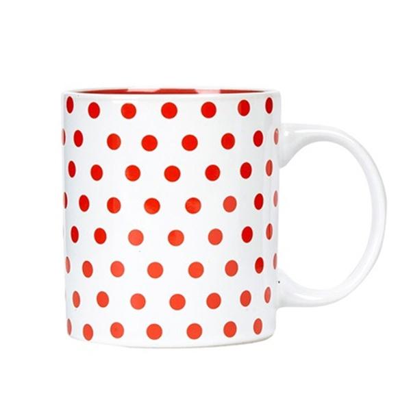 Tour de France(ツールドフランス)マグカップ(POIS / ホワイト / レッドドット)