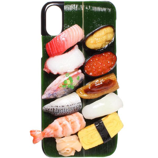 Pursuit Kids(パーシュートキッズ)食品サンプルiPhoneカバー (Aデザイン / 握り寿司)