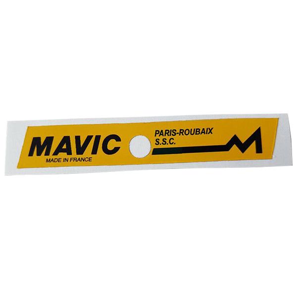 MAVIC(マビック)Paris-Roubaix(パリルーベ)S.S.C.リム用ステッカー(イエロー)