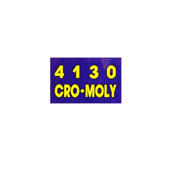 NISHIKI(ニシキ)4130 CROMOLY ビンテージステッカー(パープル / ネオンイエロー)