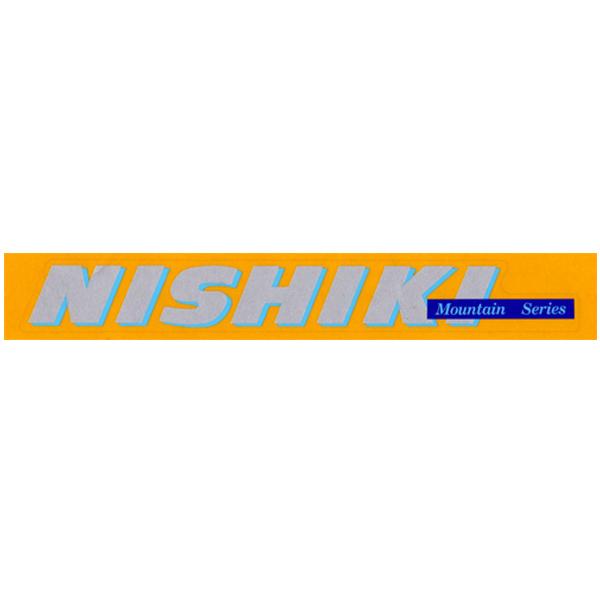 NISHIKI(ニシキ)ビンテージロゴステッカー(シルバー/スカイブルー)
