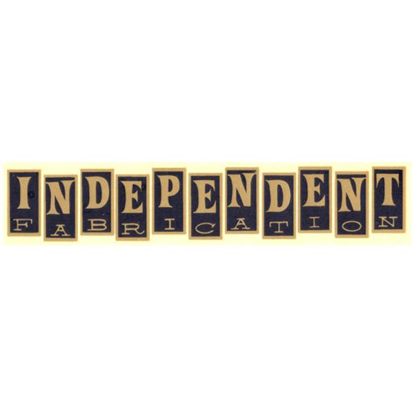 Independent Fabrication(インディペンデント ファブリケーション)ロゴステッカー(ブラック / ゴールド)