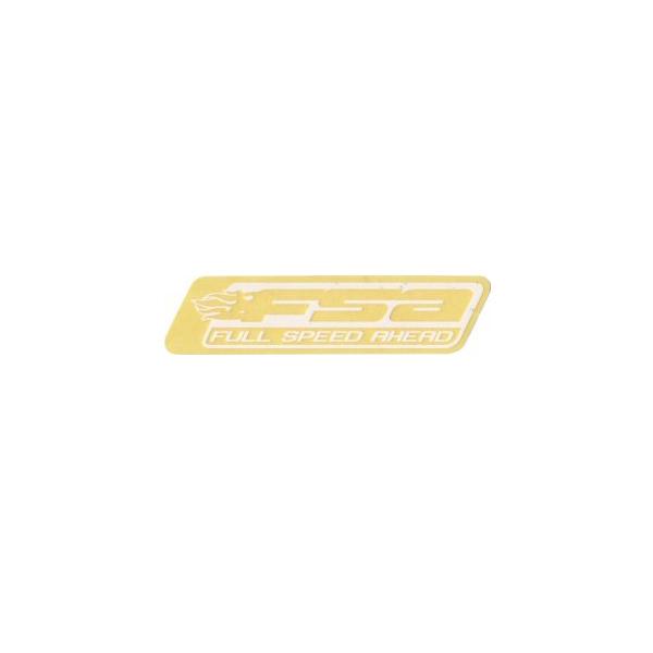 FSA(エフエスエー)ロゴステッカー(ホワイト/抜き文字)