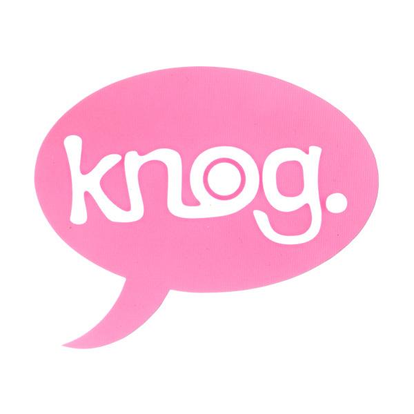 knog(ノグ)ロゴステッカー(ピンク/ホワイトロゴ)
