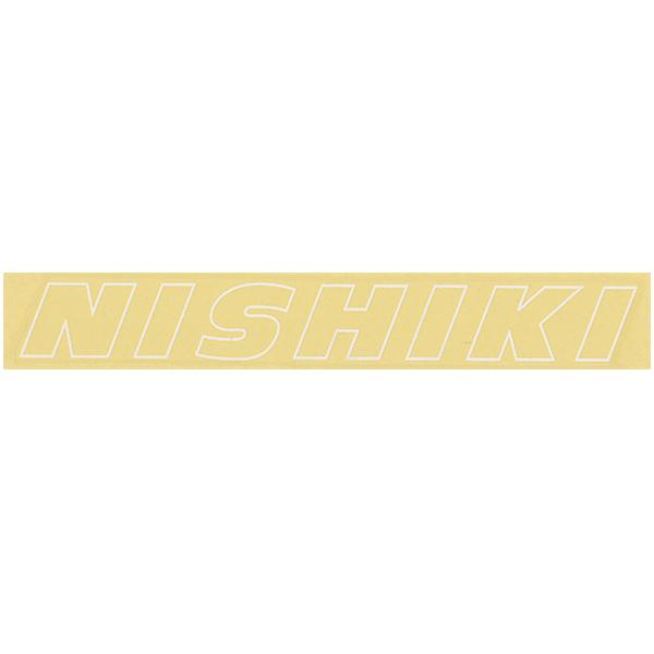 NISHIKI(ニシキ)ビンテージロゴステッカー(ホワイト / アウトライン)