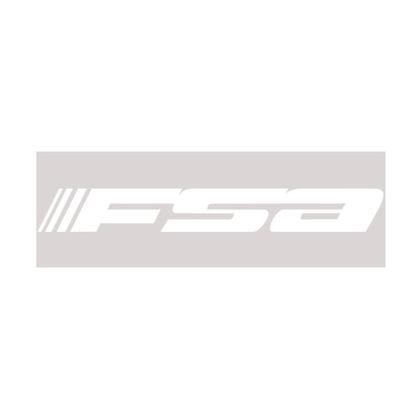FSA(エフエスエー)ロゴステッカー(W18 / H2.4 / ホワイト)