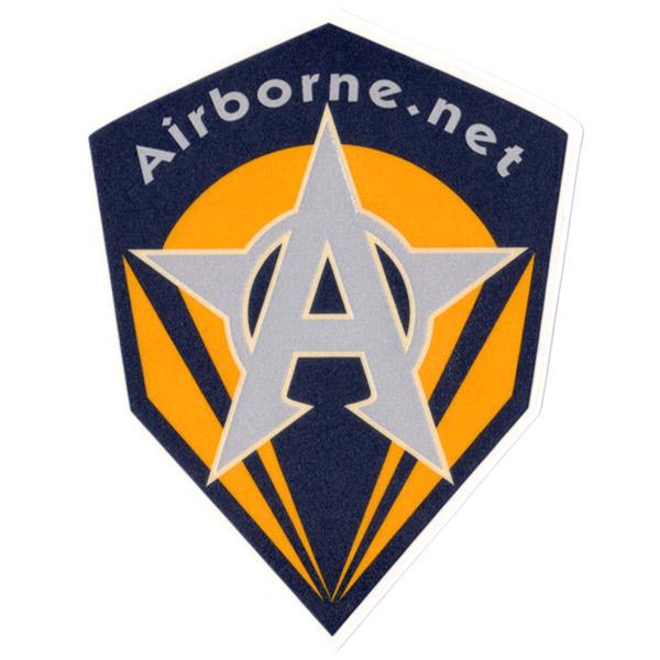 Airborne(エアーボーン)ビンテージロゴステッカー