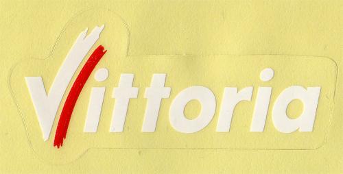 Vittoria(ビットリア)ロゴステッカー(ホワイト / Mサイズ)