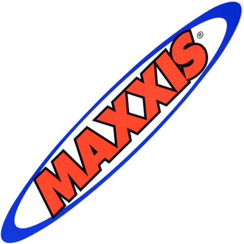 MAXXIS(マキシス)ロゴステッカー(楕円型 / Lサイズ)