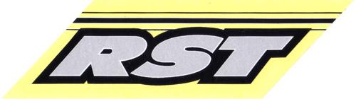 RST(アールエスティ)ロゴステッカー(シルバー / ブラック)