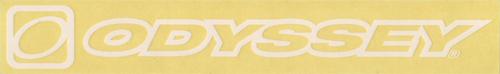 ODYSSEY(オデッセー)ロゴステッカー(旧ロゴデザイン / ホワイト / アウトライン)