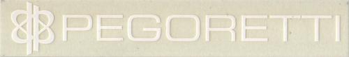 PEGORETTI(ペゴレッティ)ロゴステッカー(ホワイト)