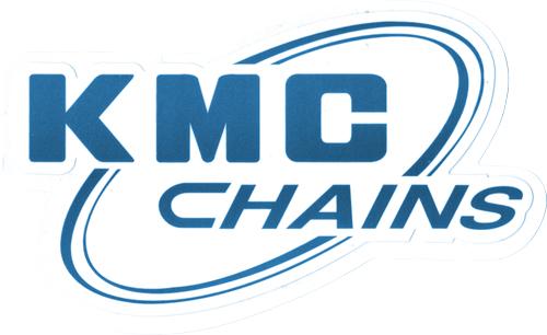 KMC(ケーエムシー)ロゴステッカー(ホワイト / ブルー系)