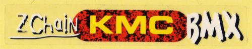 KMC(ケーエムシー)BMX ロゴステッカー(ホワイト / レッド / イエロー)
