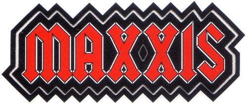 MAXXIS(マキシス)ロゴイメージステッカー(ブラック / オレンジ / Bパターン / 横幅6.5cm)
