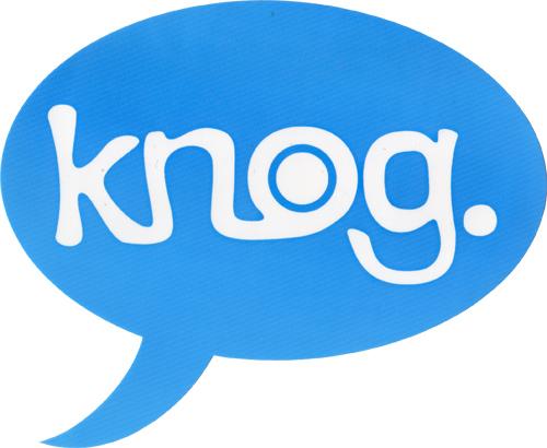 knog(ノグ)ロゴステッカー(ブルー / ホワイトロゴ)