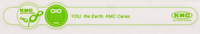 KMC(ケーエムシー)チェーンステー用イメージステッカー(グリーン系)