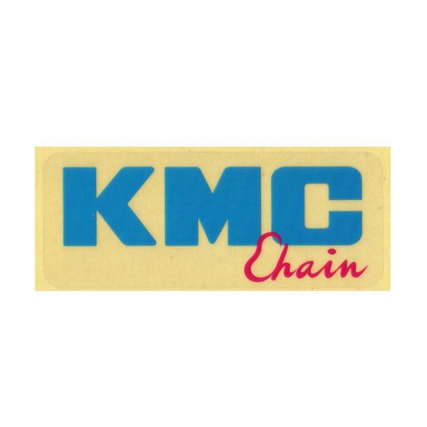 KMC(ケーエムシー)ロゴステッカー(ブルー / レッド)