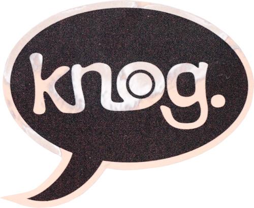 knog(ノグ)ロゴステッカー(ブラック / シルバーロゴ)