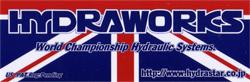 HYDRAWORKS(ハイドラワークス)ロゴイメージステッカー(Sサイズ)