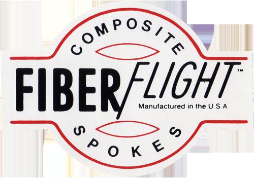 FIBER FLIGHT COMPOSITE SPOKES(ファイバーフライト コンポジットスポークス)ロゴステッカー(Aタイプ)