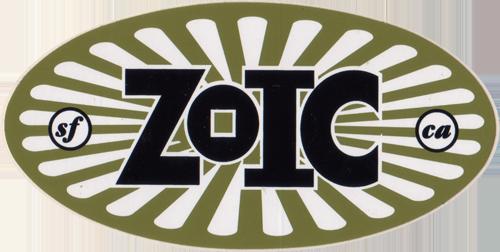 ZOIC(ゾイック)ロゴステッカー(ゴールド系 / ホワイト / ブラック)