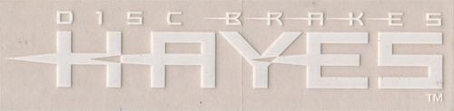 HAYES(ヘイズ)ロゴステッカー(旧ロゴ / ホワイト)