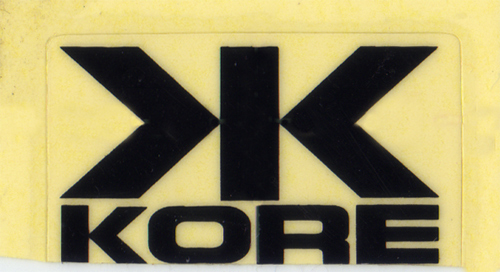 KORE(コア)ロゴ&マーク ステッカー(旧デザイン / ブラック)