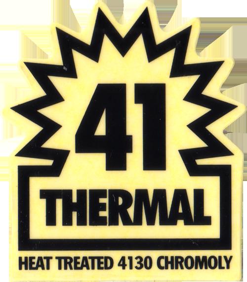 41 THERMAL ロゴステッカー(ブラック)