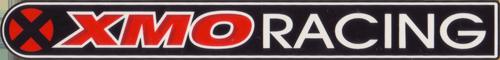 RST(アールエスティ)XMO RACING ロゴステッカー(ブラック / ホワイト / レッド)
