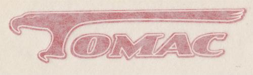 TOMAC(トマック)ビンテージ ロゴステッカー(レッド)