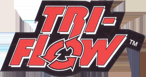 TRI-FLOW ロゴステッカー(Mサイズ / ブラック / オレンジ)