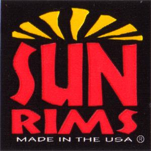 SUN RIMS(サンリムズ)ビンテージ ロゴステッカー(ブラック / レッド / オレンジ)