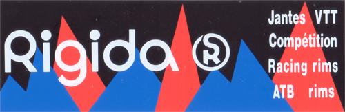 Rigida(リジダ)ロゴステッカー(ブラック / ブルー / レッド)