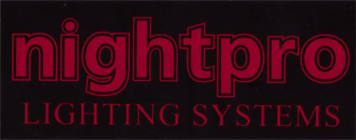 nightpro(ナイトプロ)ロゴステッカー(ブラック / レッド)