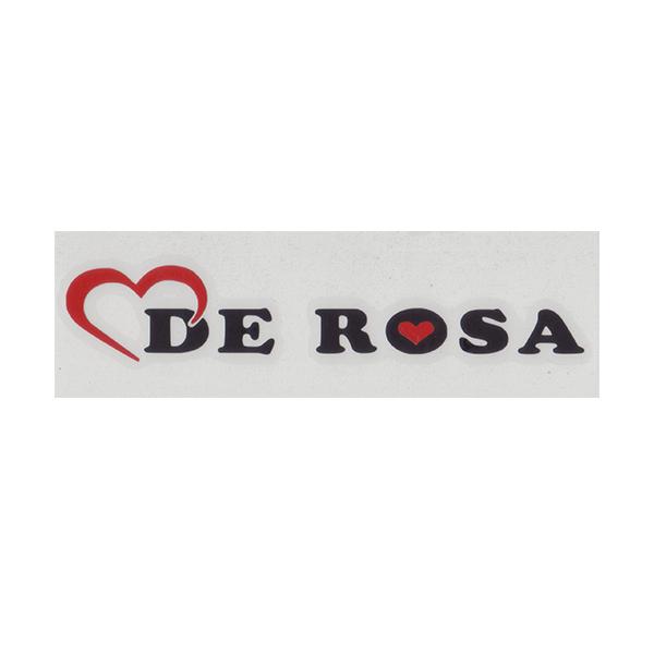 DE ROSA(デローザ)ロゴステッカー(ブラック / レッド)