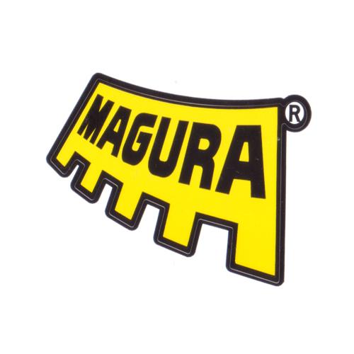 MAGURA(マグラ)ロゴステッカー(Aデザイン / イエロー / ブラック)