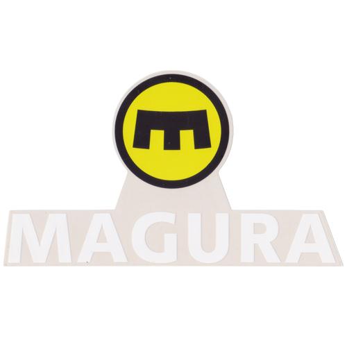 MAGURA(マグラ)ロゴステッカー(Cデザイン / イエロー / ブラック / ホワイト)