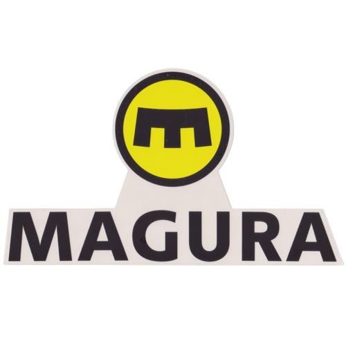 MAGURA(マグラ)ロゴステッカー(Dデザイン / イエロー / ブラック)
