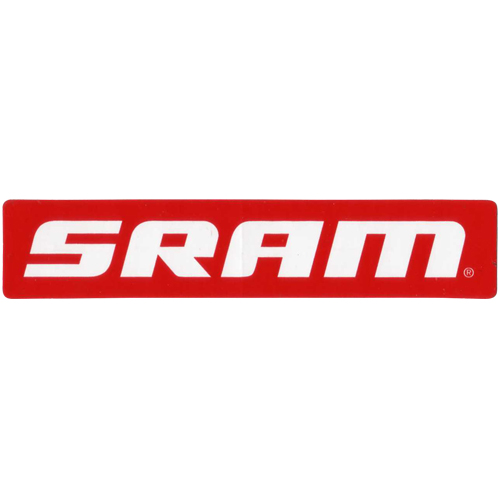 SRAM(スラム)ロゴステッカー(レッド / ホワイトロゴ)