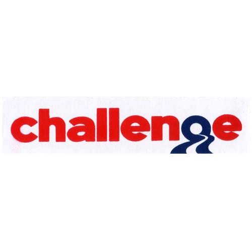 Challenge(チャレンジ)ロゴステッカー(レッド)