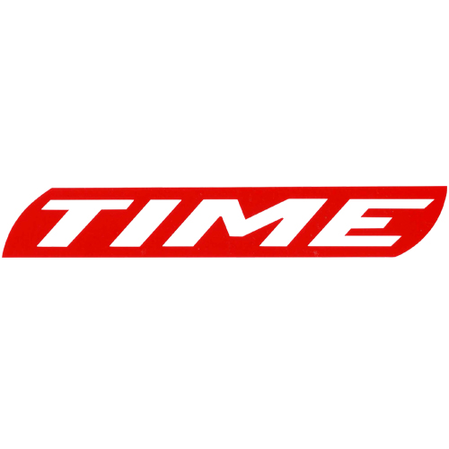 TIME(タイム)ロゴステッカー(レッド)