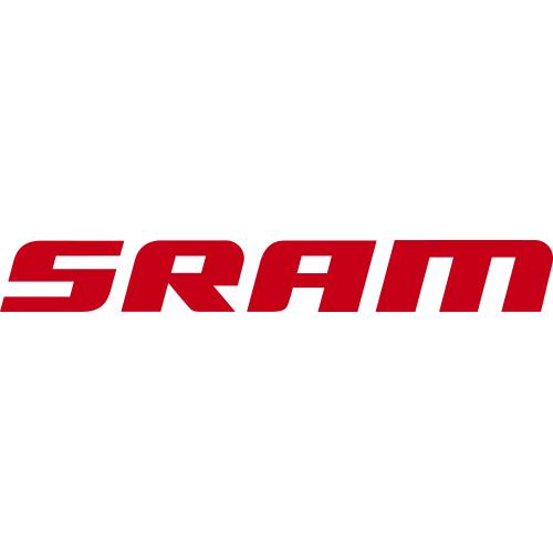 SRAM(スラム)ロゴステッカー(レッド / W18 / H2.3)