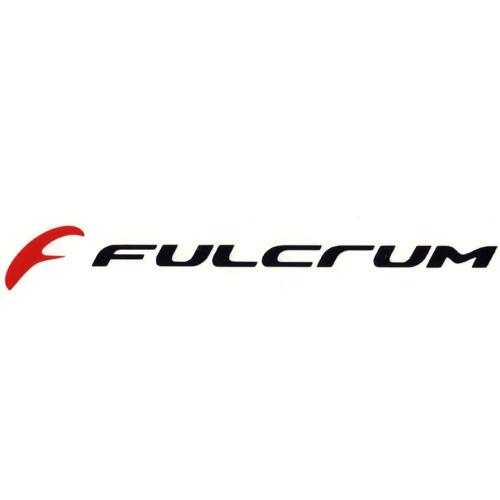 FULCRUM(フルクラム)ロゴステッカー(CUTTING DECAL / ブラック / レッド)
