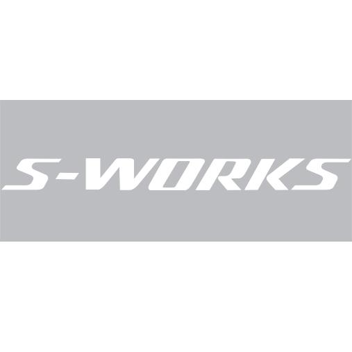 SPECIALIZED(スペシャライズド)S-WORKS(エスワークス)ロゴステッカー(W18 / H1.7 / ホワイト)