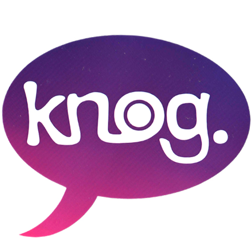 knog(ノグ)ロゴステッカー(パープル / ホワイトロゴ)