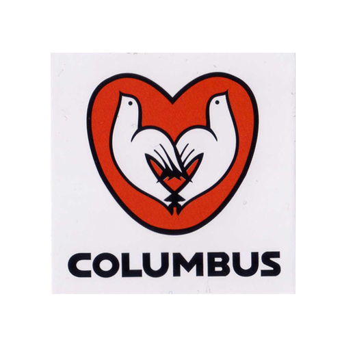 COLUMBUS(コロンブス)ステッカー(Aデザイン / ホワイト / レッド)